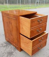 SOLD - Yew Two Drawer Filing Cabinet
